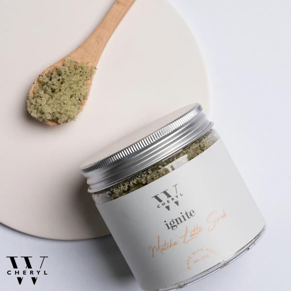 cheryl w matcha latte detoxifying scrub